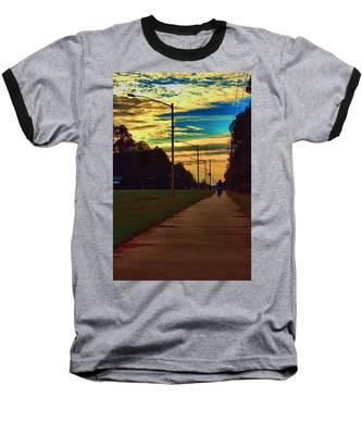 Riding Into The Sunset Baseball T-Shirt