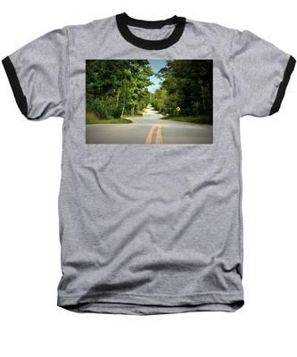 Baseball T-Shirt featuring the photograph Roadway Slalom by Andrea Platt