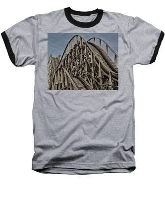 Roller Coaster Baseball T-Shirt