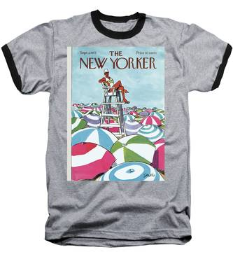 Sea Of Umbrellas Baseball T-Shirt