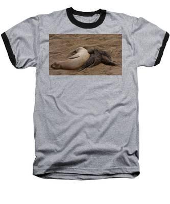 Seal And Pups Baseball T-Shirt