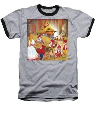Snow White And The Seven Dwarfs Baseball T-Shirt
