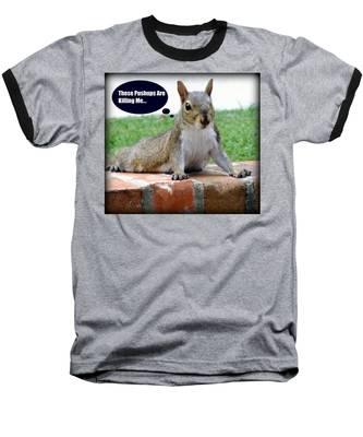 Squirrely Push Ups Baseball T-Shirt