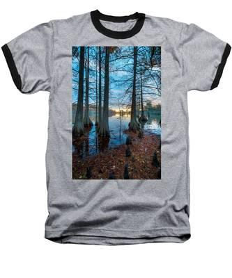 Steinhagen Reservoir Vertical Baseball T-Shirt