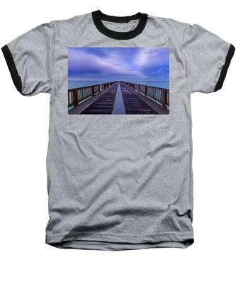 Sunrise At The Panama City Beach Pier Baseball T-Shirt