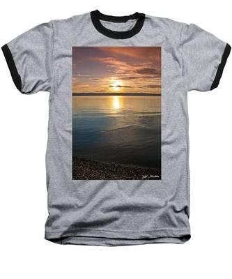Sunset Over Puget Sound Baseball T-Shirt