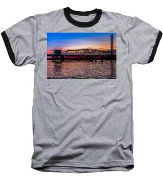Surf City Swing Bridge Baseball T-Shirt
