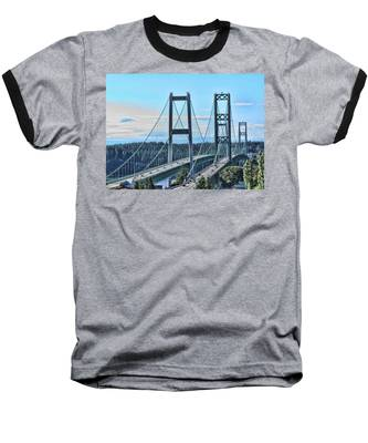 Tacoma Narrows Bridge 51 Baseball T-Shirt