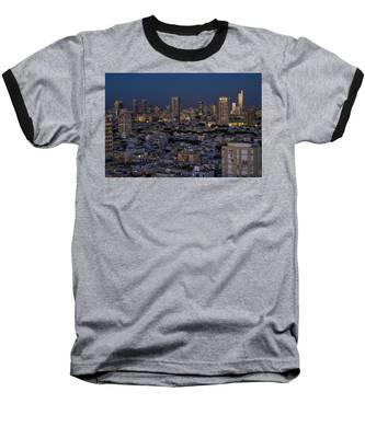 Tel Aviv At The Twilight Magic Hour Baseball T-Shirt
