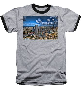 Tel Aviv Center Skyline Baseball T-Shirt