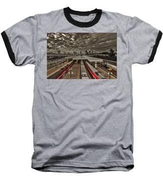 Tel Aviv Central Railway Station Baseball T-Shirt
