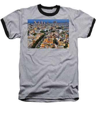 Tel Aviv Eagle Eye View Baseball T-Shirt