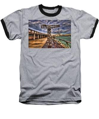 Tel Aviv Port At Winter Time Baseball T-Shirt
