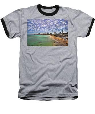 Tel Aviv Turquoise Sea At Springtime Baseball T-Shirt