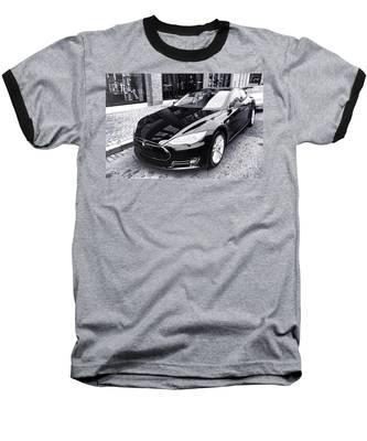 Tesla Model S Baseball T-Shirt