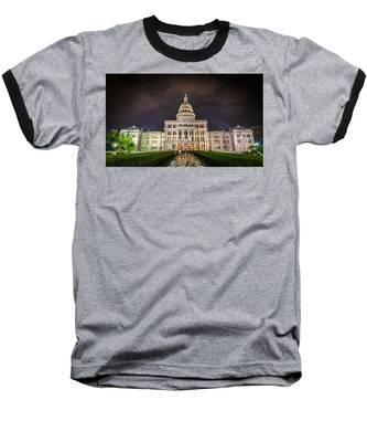 Texas Capitol Building Baseball T-Shirt