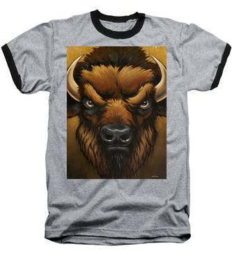 The Mighty Bison Baseball T-Shirt