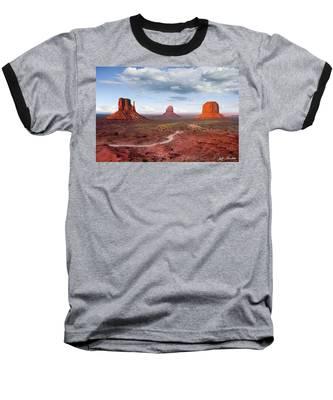 The Mittens And Merrick Butte At Sunset Baseball T-Shirt