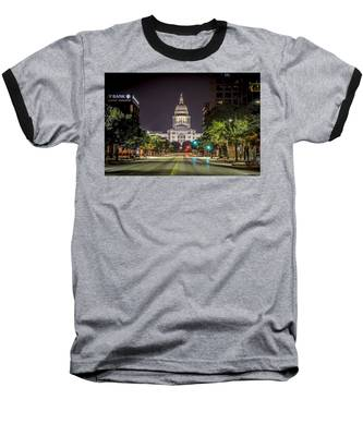 The Texas Capitol Building Baseball T-Shirt