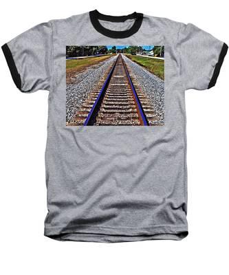 Tracks To Somewhere Baseball T-Shirt
