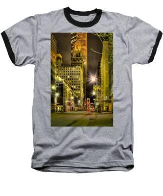 Travis And Lamar Street At Night Baseball T-Shirt
