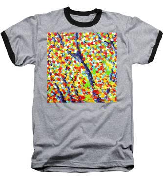 Tree At Fall Baseball T-Shirt