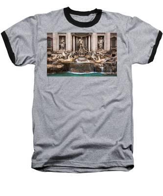 Trevi Fountain Baseball T-Shirt