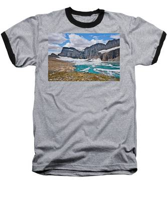 Upper Grinnell Lake And Glacier Baseball T-Shirt