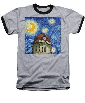 Van Gogh Courthouse Baseball T-Shirt