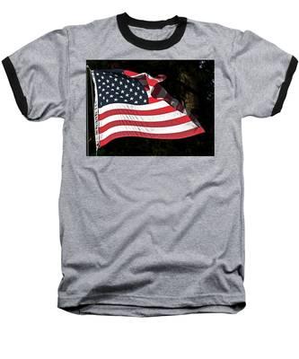 Waving Flag Baseball T-Shirt