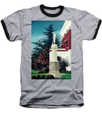 White County Courthouse - Civil War Memorial Baseball T-Shirt