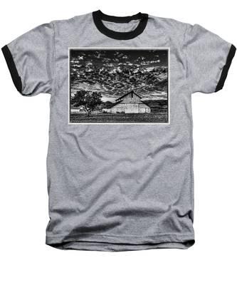 Barn At Sunset Baseball T-Shirt