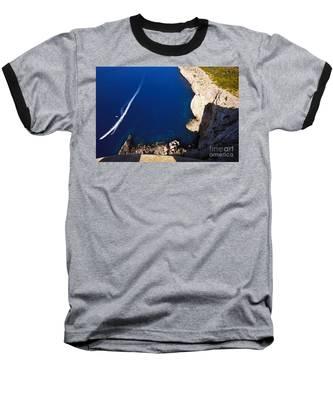 Boat In The Sea Baseball T-Shirt