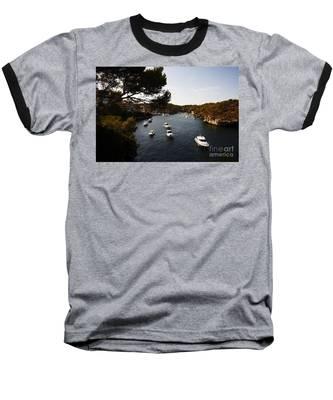 Boats In Cala Figuera Baseball T-Shirt