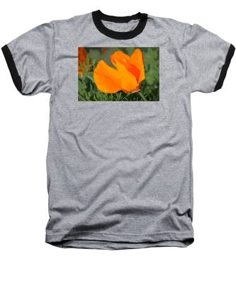 California Poppy2 Baseball T-Shirt
