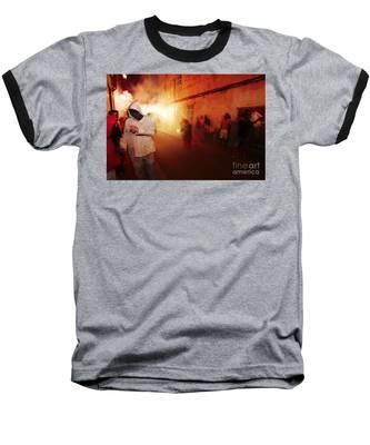 Demons In The Street Baseball T-Shirt