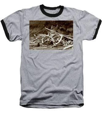 Driftwood Pile San Juan Baseball T-Shirt
