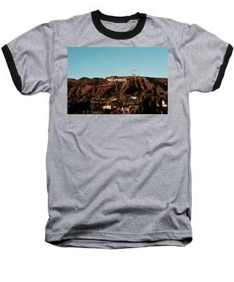 Hollywood Sign At Sunset Baseball T-Shirt