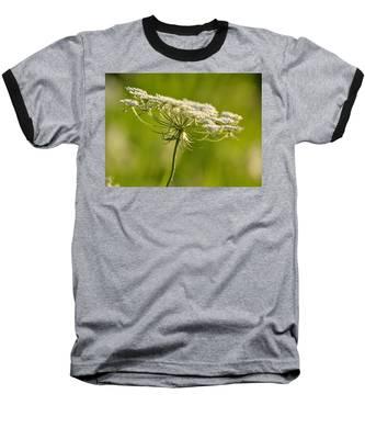 Lacy White Flower Baseball T-Shirt