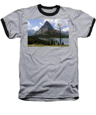 Lone Tree At Sinopah Mountain Baseball T-Shirt