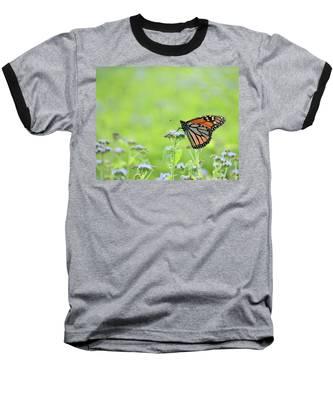 Monarch And Mist Baseball T-Shirt
