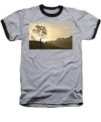 Pasture Sunrise Baseball T-Shirt