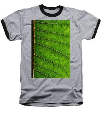 Poinsettia Leaf IIi Baseball T-Shirt