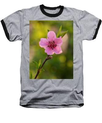 Pretty Pink Peach Baseball T-Shirt