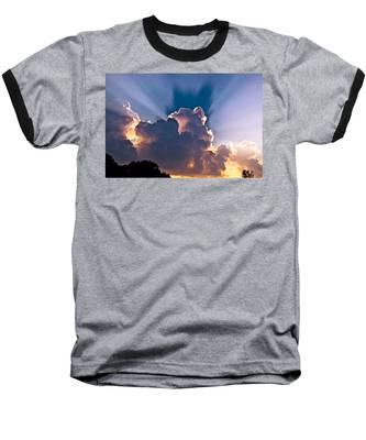 Sun Rays And Clouds Baseball T-Shirt