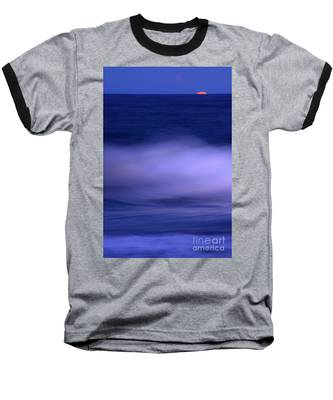 The Red Moon And The Sea Baseball T-Shirt