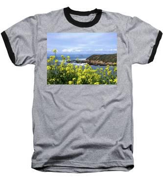 Through Yellow Flowers Baseball T-Shirt