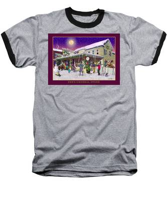 Winter At Zebs General Store In North Conway Nh Baseball T-Shirt