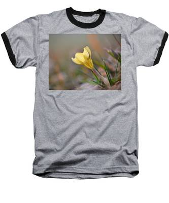 Yellow Crocus Baseball T-Shirt