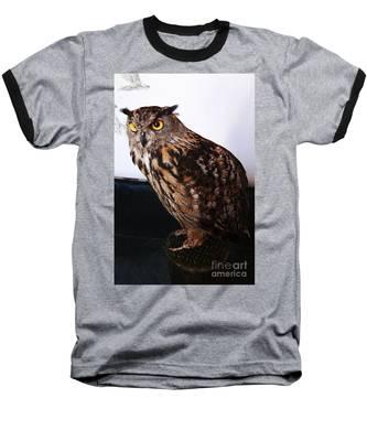 Yellow-eyed Owl Side Baseball T-Shirt